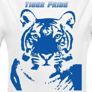 Blue Tiger - Long Sleeve Baby Bodysuit