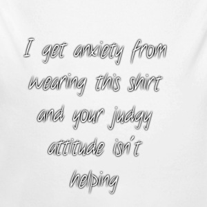Anxiety W/O quote - Long Sleeve Baby Bodysuit