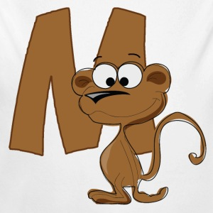 M Is For Monkey - Long Sleeve Baby Bodysuit