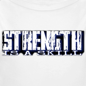 Strength is a skill - Long Sleeve Baby Bodysuit