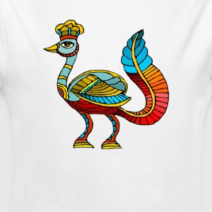 Ancient Egyptian Painting - Peacock Deity - Long Sleeve Baby Bodysuit