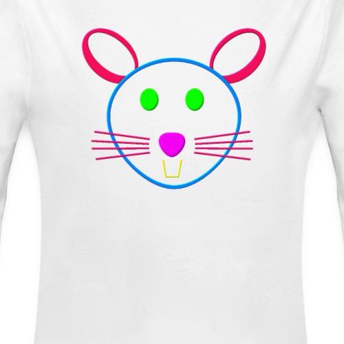 Coloured mouse - Organic Long Sleeve Baby Bodysuit