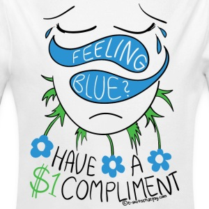 Feeling Blue? Have a Compliment - Long Sleeve Baby Bodysuit