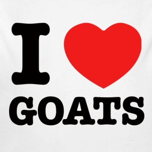 I Love goats - Long Sleeve Baby Bodysuit
