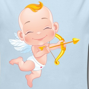 amourchik-smile-cupid-wings-heart-bow - Long Sleeve Baby Bodysuit
