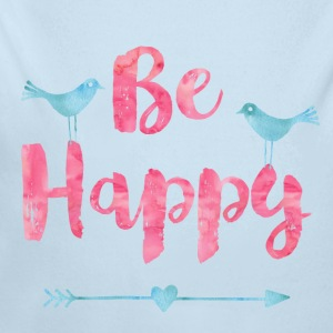 Be happy birds - Long Sleeve Baby Bodysuit