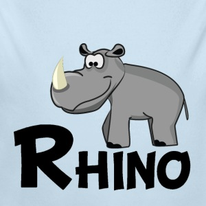 Cartoon Rhino - Long Sleeve Baby Bodysuit