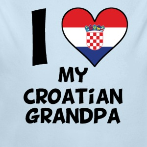 I Heart My Croatian Grandpa - Long Sleeve Baby Bodysuit