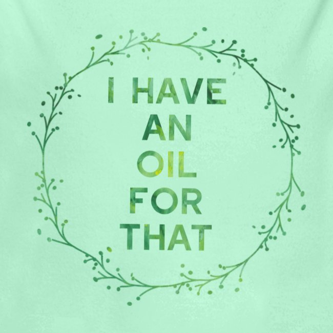 I have an oil for that tee