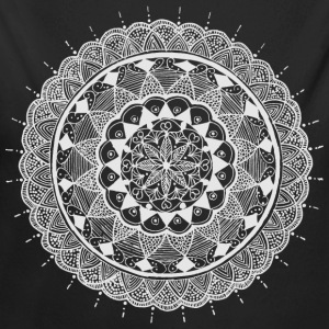 mandala white - new art - Long Sleeve Baby Bodysuit