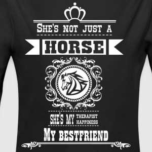She is not just a horse she is my best friend - Long Sleeve Baby Bodysuit