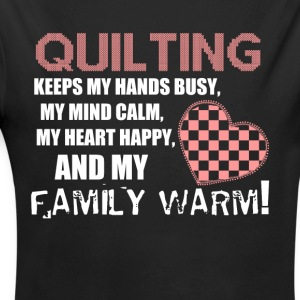 Quilting - Family love shirt - Long Sleeve Baby Bodysuit