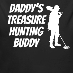 Daddy's Treasure Hunting Buddy - Long Sleeve Baby Bodysuit