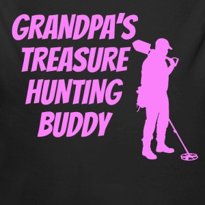 Grandpa's Treasure Hunting Buddy - Long Sleeve Baby Bodysuit