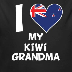 I Heart My Kiwi Grandma - Long Sleeve Baby Bodysuit