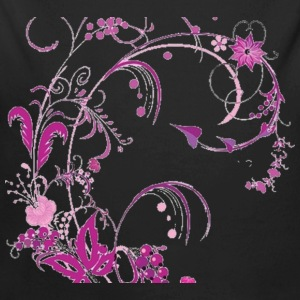 free floral vector graphic 147482 - Long Sleeve Baby Bodysuit
