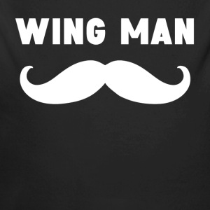 Wing Man Mustache - Long Sleeve Baby Bodysuit