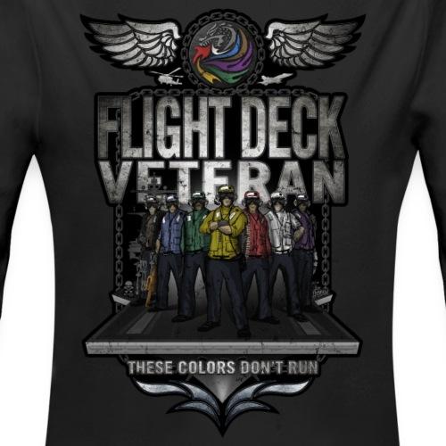Flight Deck Veteran These Colors Don't Run - Organic Long Sleeve Baby Bodysuit