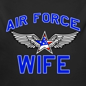 Air force wife design - Long Sleeve Baby Bodysuit