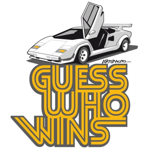 Italian Sportscar Guess Who Wins - Women's Long Sleeve Jersey T-Shirt