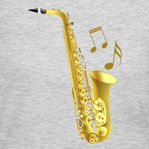 Saxophone with music notes - Women's Long Sleeve Jersey T-Shirt
