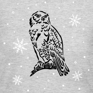 Beautiful snow owl with snowflakes. - Women's Long Sleeve Jersey T-Shirt