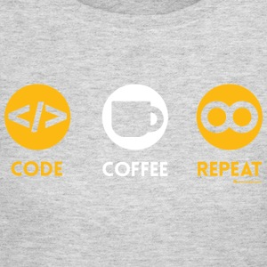 CODE COFFEE REPEAT T Shirt - Women's Long Sleeve Jersey T-Shirt