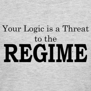 Your logic is a threat to the regime - Women's Long Sleeve Jersey T-Shirt