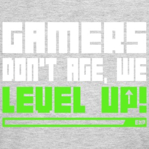 Gamers Don t Age We Level Up T Shirt - Women's Long Sleeve Jersey T-Shirt