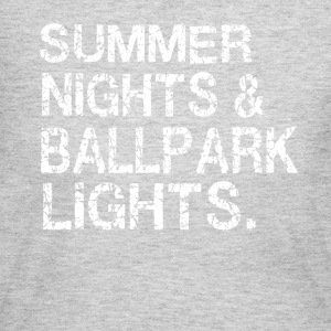 Summer nights and ballpark lights - Women's Long Sleeve Jersey T-Shirt