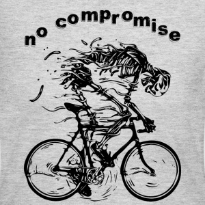 NO COMPROMISE bicycle race racer skeleton tour - Women's Long Sleeve Jersey T-Shirt