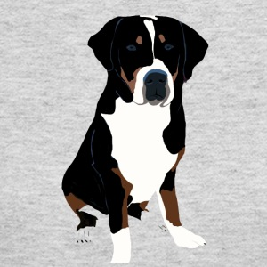 Greater Swiss Mountain Dog Art - Women's Long Sleeve Jersey T-Shirt