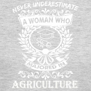 Never Underestimate Woman Who Majored Agriculture - Women's Long Sleeve Jersey T-Shirt