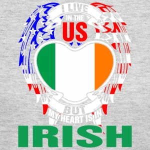 I Live In The Us But My Heart Is In Irish - Women's Long Sleeve Jersey T-Shirt