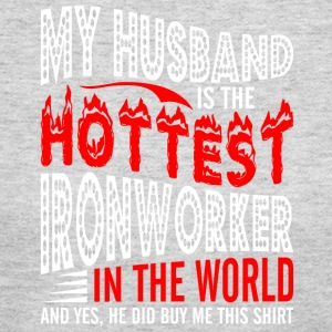 My Husband Is The Hottest Ironworker - Women's Long Sleeve Jersey T-Shirt
