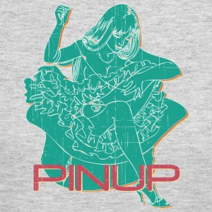 PINUP_GIRL_WITH_sew_colored - Women's Long Sleeve Jersey T-Shirt