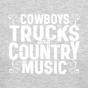 Cowboys Trucks And Country Music T Shirt - Women's Long Sleeve Jersey T-Shirt