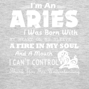 An Aries I Was Born With My Heart On My Sleeve - Women's Long Sleeve Jersey T-Shirt