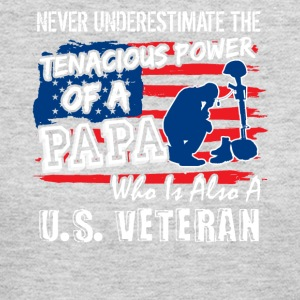 Never Underestimate Tenacious Power of US Veteran - Women's Long Sleeve Jersey T-Shirt