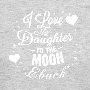 I love my daughter to the moon back - Women's Long Sleeve Jersey T-Shirt