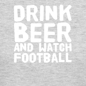 Drink beer and watch football - Women's Long Sleeve Jersey T-Shirt