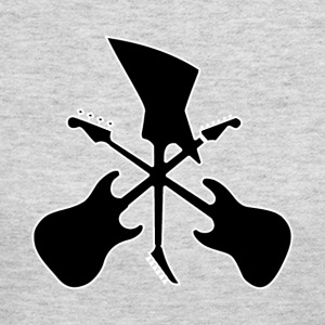 Crossed Guitars - Women's Long Sleeve Jersey T-Shirt