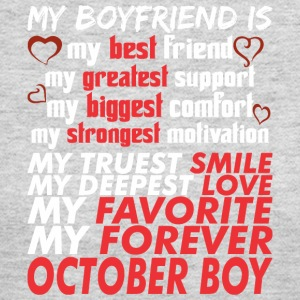 My Boyfriend Is October Boy - Women's Long Sleeve Jersey T-Shirt