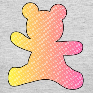 teddy bear with binary code - Women's Long Sleeve Jersey T-Shirt