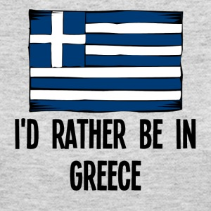 I'd Rather Be In Greece - Women's Long Sleeve Jersey T-Shirt