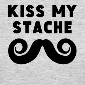 Kiss My Stache - Women's Long Sleeve Jersey T-Shirt
