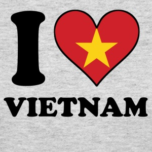 I Love Vietnam Vietnamese Flag Heart - Women's Long Sleeve Jersey T-Shirt