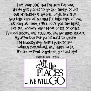 I am your dog FNL BACK purple copy - Women's Long Sleeve Jersey T-Shirt