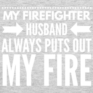 My firefighter husband - Women's Long Sleeve Jersey T-Shirt