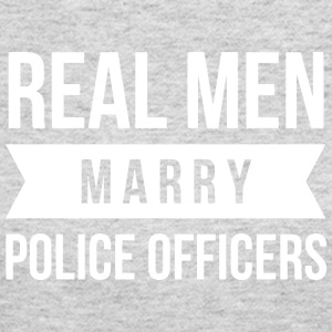 Real Men marry Police Officers - Women's Long Sleeve Jersey T-Shirt